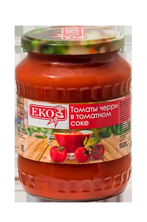 Cherry tomatoes in tomato juice
