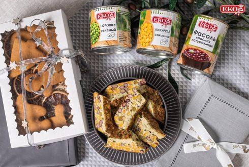 Фритата с красной фасолью, горошком и кукурузой