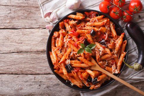 Sicilian eggplant pasta